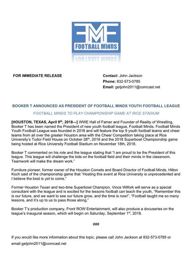 Football Minds Press Release